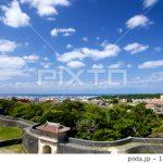 PIXTAで、首里城からの風景写真が売れました