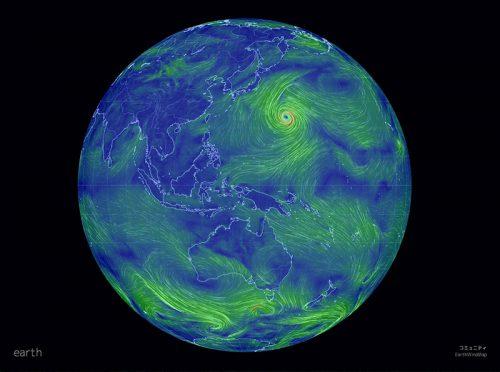 earth____地球の風、天気、海の状況地図_と_Evernote_Premium