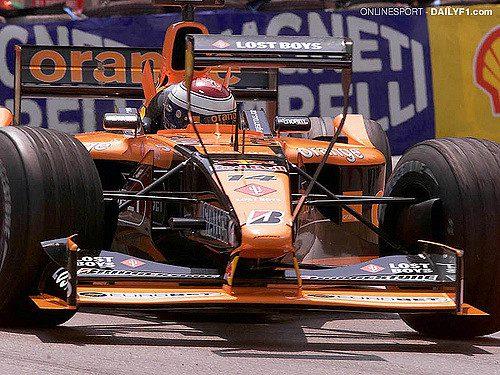 24.05.2001 Monte Carlo, Monaco, Jos Verstappen im Arrows mit ZusatzflŸgel am Donnerstag (24.05.2001) beim Freien Training zum Formel 1 Grand Prix von Monaco. © Onlinesport