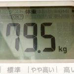 リミットまであと3ヶ月。なんとか80kgを切れました