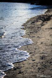 渡嘉敷島 夕方の波間