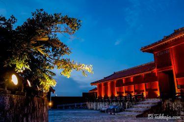 首里城の夜景