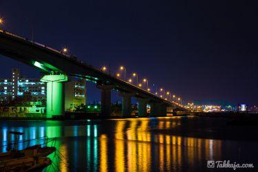 泊大橋の夜景