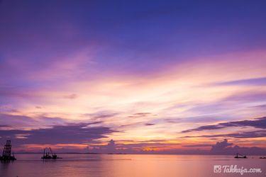 瀬長島の夕景